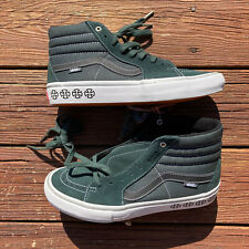 Vans Independent Sk8-Hi Pro Spruce Green Black Mens 10