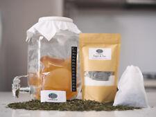 4L Deluxe Kombucha Brewing Kit, Organic Scoby, glass Jar, PH strips & more