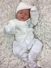 Reborn fille ou garçon blanc tenue Bobble Hat Cardigan BG S