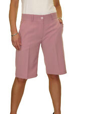 NEW (1492-7) Smart Casual Washable Tailored Shorts Pastel Pink 8-22