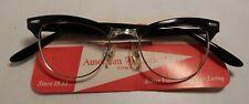 Vintage AMERICAN OPTICAL Showtime Black 44/22 12K G.F. Eyeglass Frame NOS #336