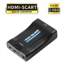 CONVERTITORE ADATTATORE VIDEO AUDIO DA SCART A HDMI 1080P PER PS3 SKY BOX TV WII