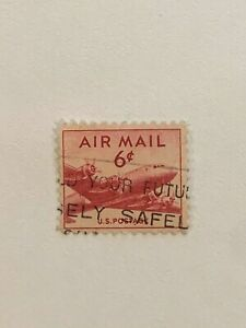 RARE RED AIR MAIL 6 CENT STAMP