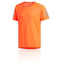 adidas Mens Own The Run T Shirt Tee Top - Orange Sports Running Breathable