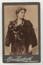 Cabinet Photo portrait opera Gerda Grönberg - Rove c. 1880 A Gieses Very RARE
