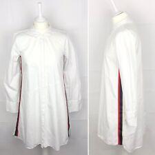 ZARA trf White Shirt Dress Size Small Women's Ladies Side Stripe Summer Casual