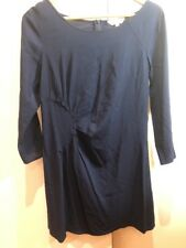 Veronika Maine Navy Blue Long Sleeveless Short Dress Size 8