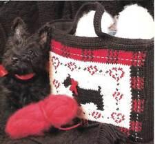 *Scotty Dog Tote Bag crochet PATTERN INSTRUCTIONS