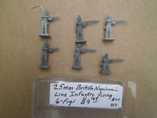 25mm Bobs Miniatures British Line Infantry Firing 6 Figs