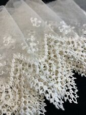 Antique Lace edging, 58 inches, Creamy white, nice condition. Free Shipping