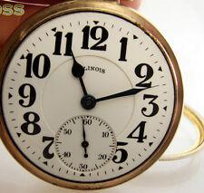 Illinois Grade 161A Bunn Special 21 Jewel Railroad RR Antique Pocket Watch