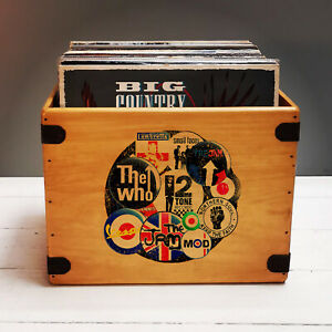 Mod Record Box LP Vintage Vinyl The Jam The Who Lambretta Vespa 2 Tone
