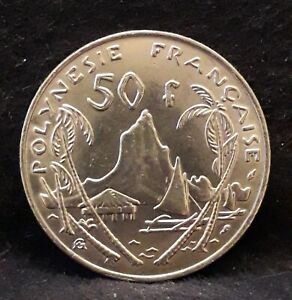 1975 French Polynesia (Overseas Territory) 50 francs, decent grade, KM-13 /N59