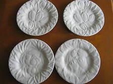 Set of 4 Bordallo Pinheiro Fruit Pattern White Salad Plates
