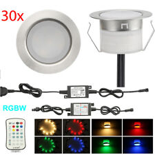 30Pcs RGB+Warm White LED Deck Lights Stair Landscape Outdoor Yard Lighting Kit