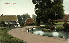 Moreton, Thame. Pond & Children.