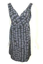 Gap Maternity Sz XS Dress Drape Front Black & Gray Polka Dot New