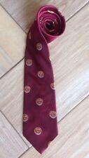 Harvard University Co-Op Rivets Of Boston Veritas Crest Emblem 100% Silk Tie