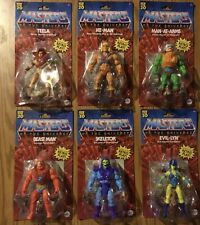 LOT Masters of the Universe Origins Wave 1 Figures.  COMPLETE He-Man Skeletor