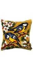 New listing Latch Hook Pillow Kit - 15.7 X 15.7 Inches - Birds On Branch