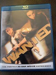 Wanted (2-Disc Blu-ray, 2008, Widescreen) Like New !    Angelina Jolie
