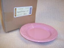 Longaberger BREAD PLATES PINK - SET OF 2 - RETIRED