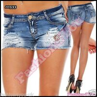 Womens Denim Hot Pants Sexy Ladies Summer Jeans Shorts Size 6,8,10,12,14 UK