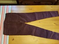 AMERICAN EAGLE OUTFITTERS PURPLE SUPER STRETCH CORDUROY JEGGING JEANS 0
