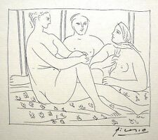 Pablo Picasso 'Metamorphoses d'Ovide-Trois Femmes..' 1931 Hand Signed Lithograph