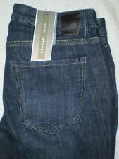 Christopher Blue Mid Rise Stretch Flare Denim Jeans Womens Size 4 x 34 New $135