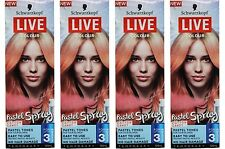 4 x SCHWARZKOPF 125mL LIVE TEMPORARY COLOUR PASTEL SPRAY COTTON CANDY Brand New