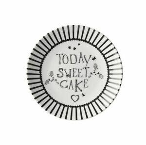Dessertteller Snackteller 12 cm gestreift Today sweet cake Dutch Rose Amsterdam