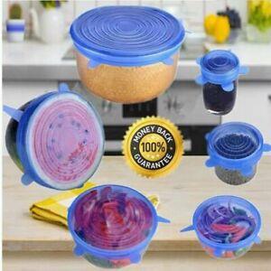 6pcs&12pcs Reusable Silicone Stretch Lids Kitchen Food Storage Wraps Cover Vario