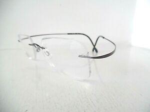 Unisex Silhouette Pewter & Black Rimless Eye Glasses M 7395 /40 V 6053 21 50