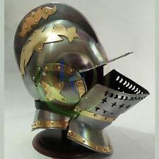 Burgonet Helmet Reenactment Armour Medieval Knight Helmets