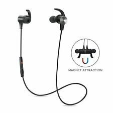 TaoTronics TT-BH07 Bluetooth Magnetic In-Ear Headphones with Built-in Mic - Black