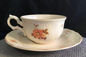 VINTAGE MIKASA marseilles fine ivory porcelain floral Japan Tea Cup saucer set