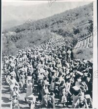 1959 Naples Italy 3 Mile Procession of Stones for New Orphanage Press Photo