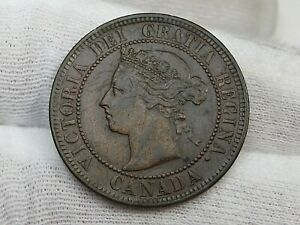 Better Date VF 1884 Large Cent Penny CANADA.  #20