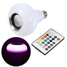 Sans fil Bluetooth 12 W E27 DEL RGB Speaker Ampoule Lumière Smart musique Lampe Remote