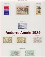 ANDORRE 1989 ANNEE COMPLETE Neuve**  TB, 1989 French Andorra Complete Year MNH