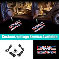 2x Wired LED Car Door Welcome Laser Projector GMC SIERRA Logo Courtesy Lights