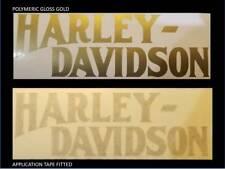2 x HARLEY DAVIDSON style Tank decal sticker Harley white black grey orange