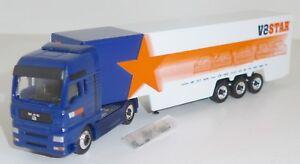 """Schuco Junior Line 22628 MAN TG-A Koffersattelzug """"V8 STAR"""" OVP 1:87"""