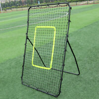 Professional Galvanized Steel Pipe Rebound Soccer/Baseball Goal Black