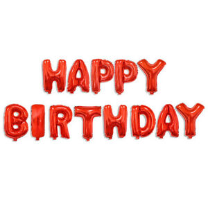Happy Birthday Paper Banner Foil Balloons Inflatable Reusable Party Decorations