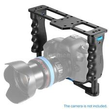 DSLR Camera Video Stabilizer Cage w/ Dual Handle Grips for Nikon Canon Pentax