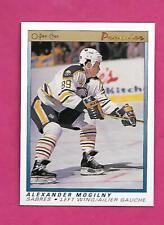 1990-91 OPC PREMIER # 75 SABRES ALEX MOGILNY  ROOKIE NRMT-MT CARD (INV# C4964)
