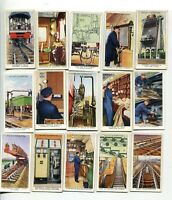 1938 W.D. & H.O. WILLS CIGARETTES RAILWAY EQUIPMENT 26 DIFFERENT CARD LOT