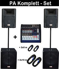 5200 Watt Powermixer 6-Kanal MUSIKER DJ PA MUSIKANLAGE KOMPLETTANLAGE  mit Kabel